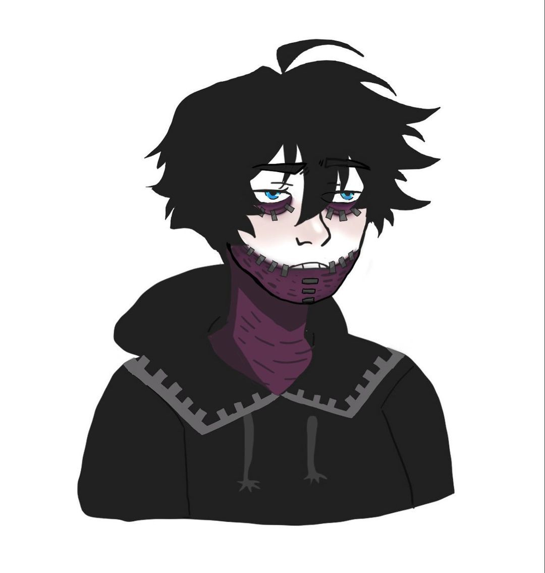 "Photo of Milkikaty on Instagram: ""doomer boy but make it Dabi 💜🖤 . feel free to use it as a profile picture, in memes and share it around. don't forget to credit @milkikaty…"""