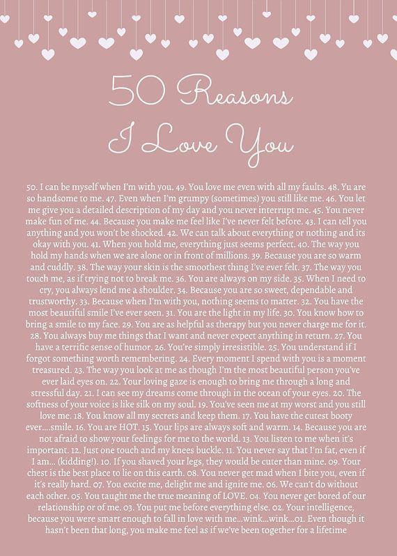 50 Reasons I Love You Girlfriendbirthday Birthday Cards For Friends 52 Reasons Message For Boyfriend Love You Boyfriend Reasons I Love You