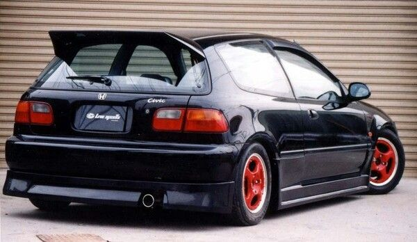 Honda Civic 92 95 Livesports Full Lipkit Front Side Rear And Wing With Ssr Mk Iir Wheels Honda Civic Honda Rines