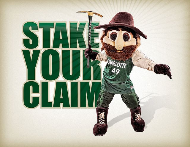 Stake Your Claim Charlottetown Unc Mascot