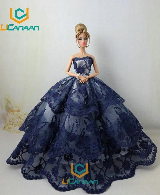 15 Gift Dress Handmade Elegant Collection Limited Doll Barbi For Party  Wedding Fishtail Models Ucanaan 76a496689280
