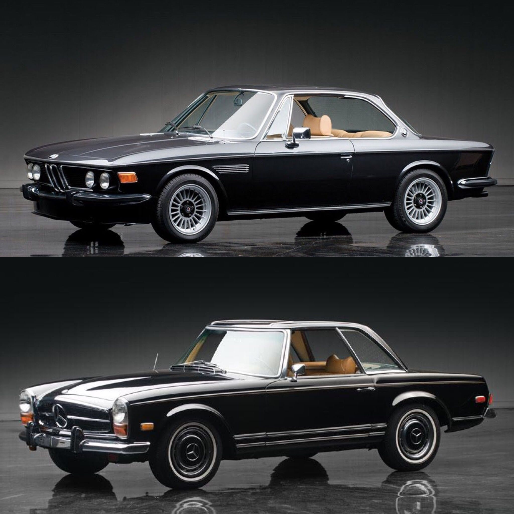 Classic Car Face Off: BMW 3.0 CS Coupe vs Mercedes-Benz 280SL Pagoda