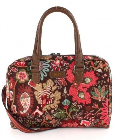 Oilily Winter Leafs Laptop Bag 10 2 Shoulder Brown New In Clothes Shoes Accessories Women S Handbags Ebay