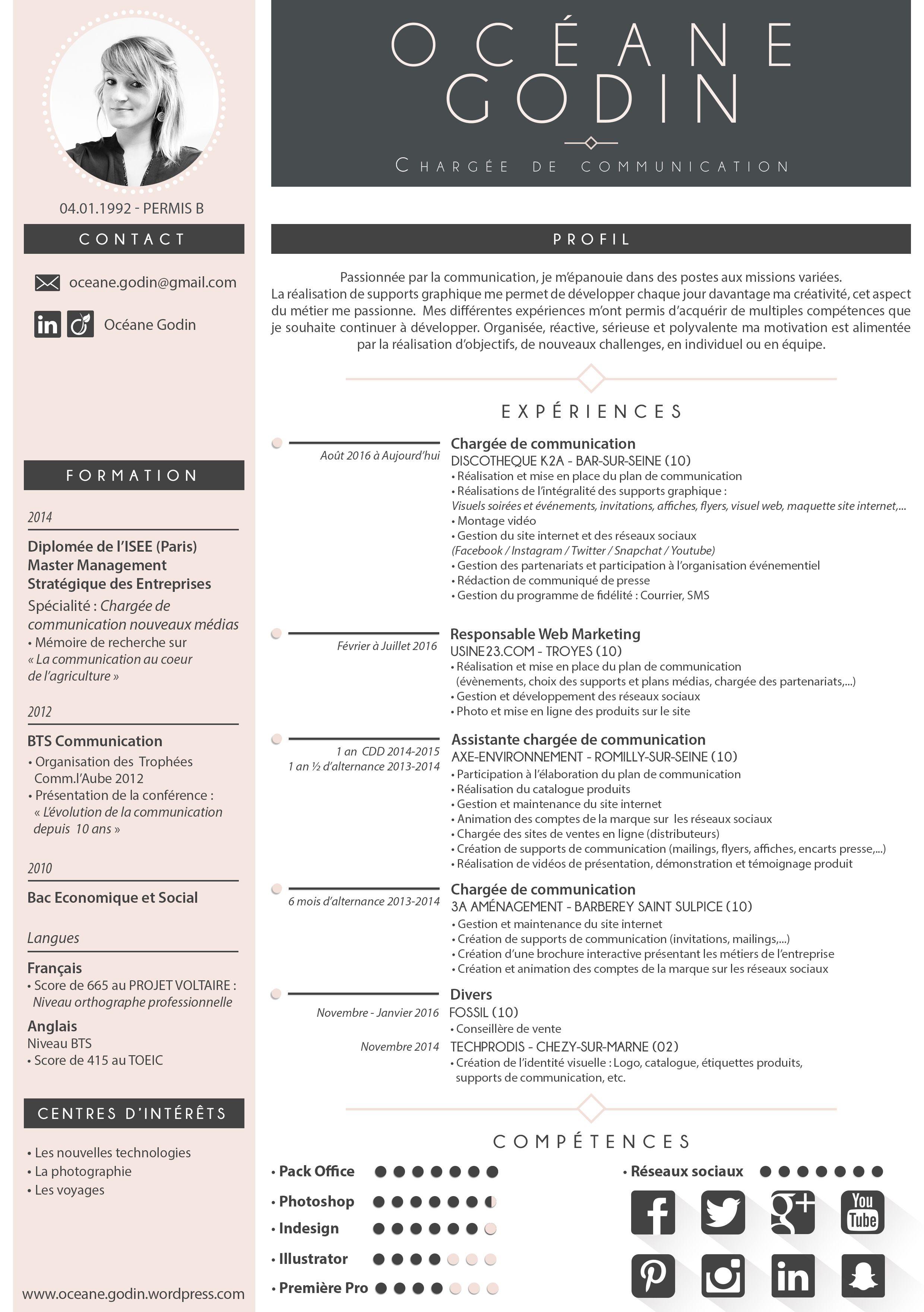 Curriculum Vitae Modèle cv gratuit, Modèle de cv créatif