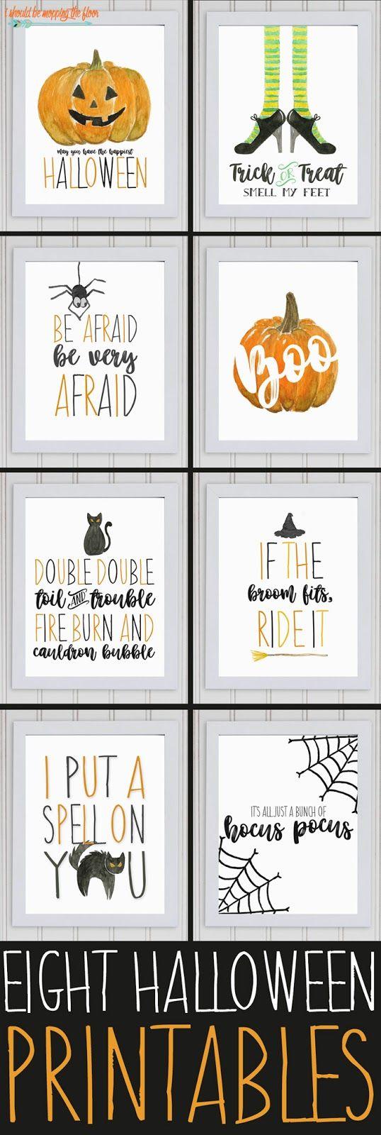 Eight Watercolor Halloween Printables | Halloween deko, Privat und ...