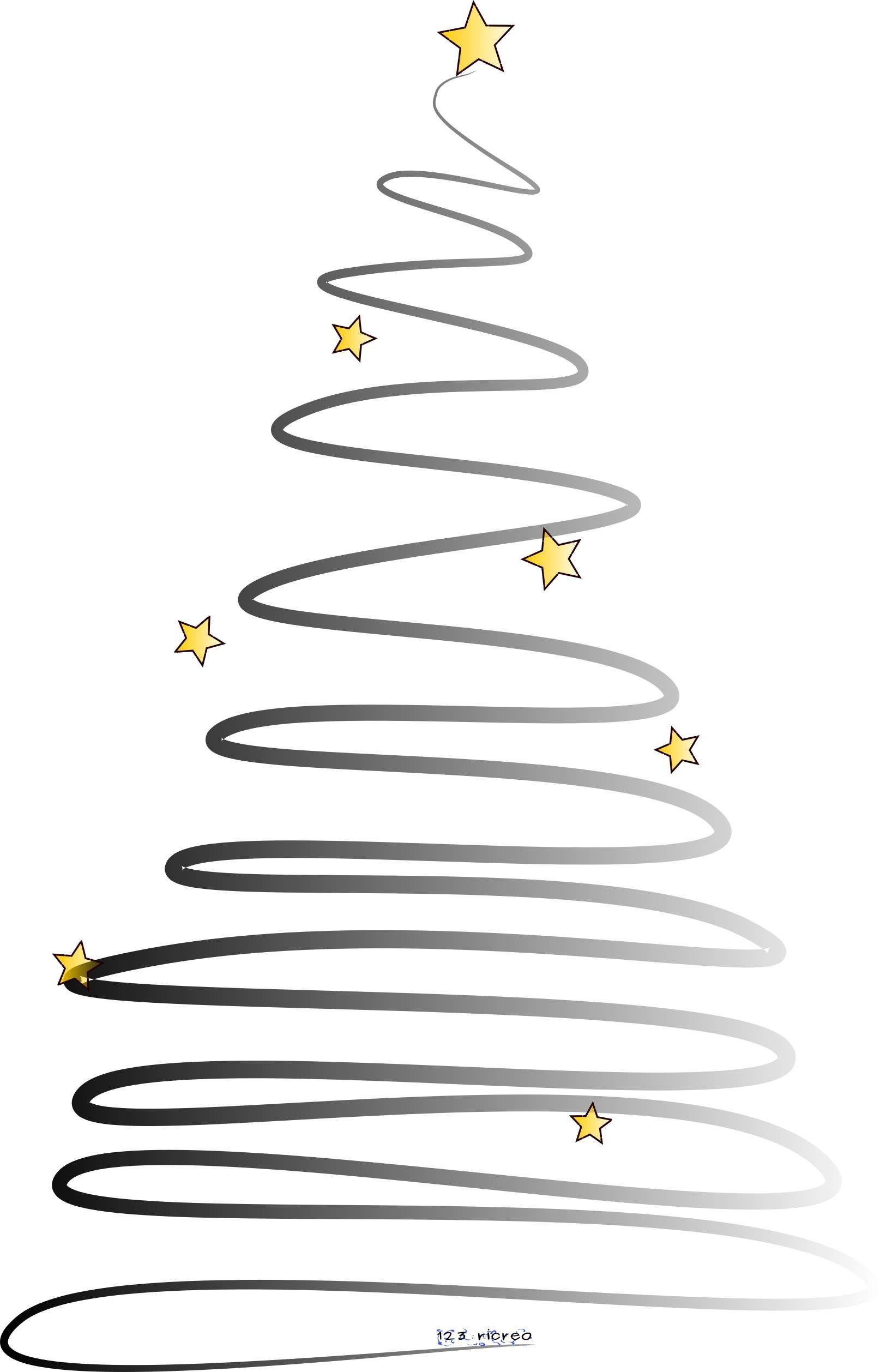 Disegno Albero Di Natale 123ricreo Nero Natale Pinterest Clip Art