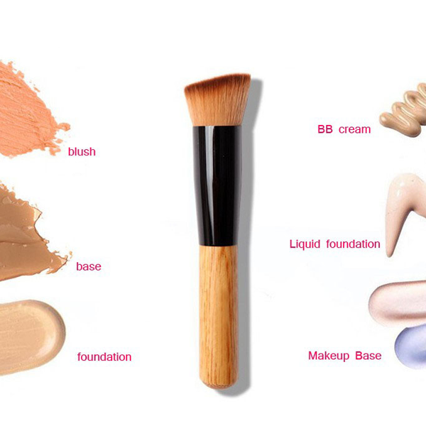 1 Piece Premium Wood Foundation Face Brush No foundation
