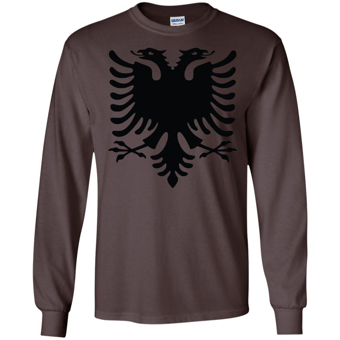 Albania flag 1-01 LS Ultra Cotton Tshirt