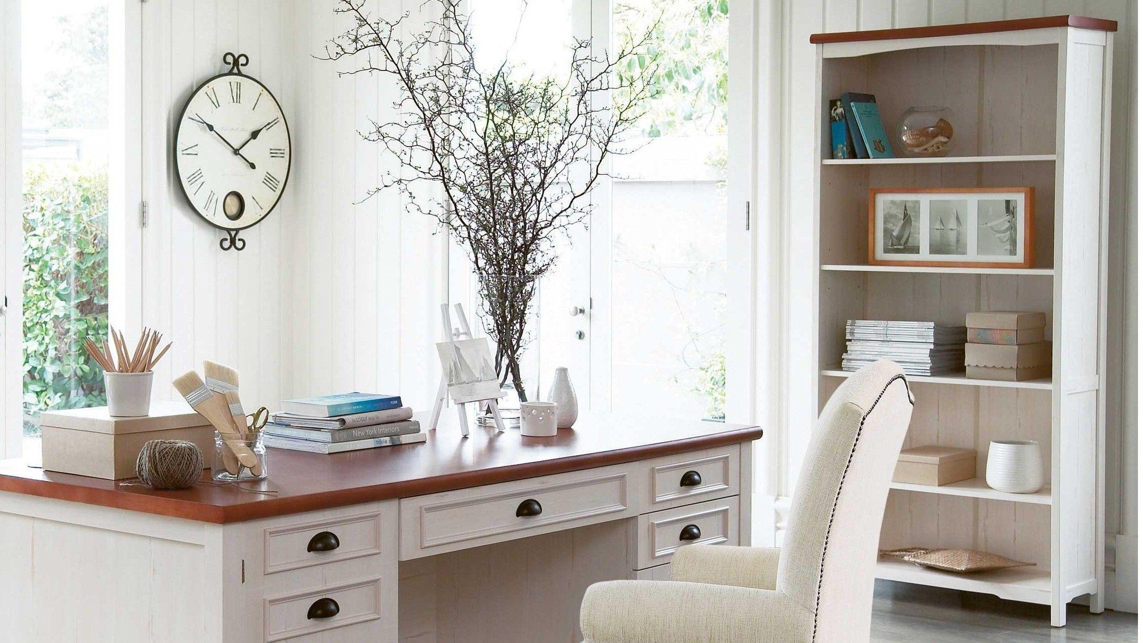 Piedmont Bookcase – Distressed White