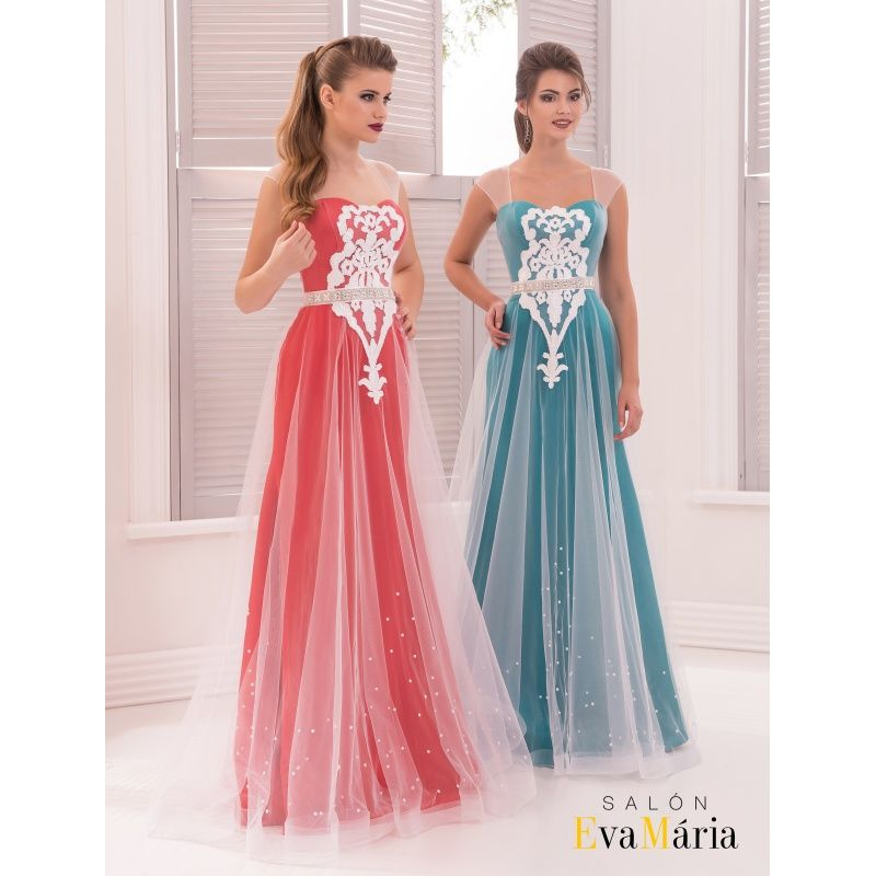03032294687c Elegantné spoločenské šaty s ramienkami