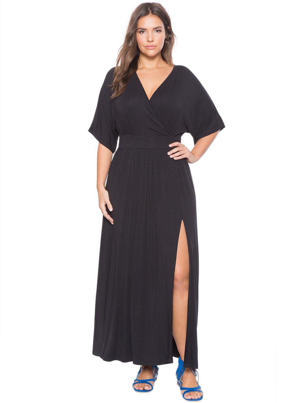 28337693d33 Black Kimono Maxi Dress