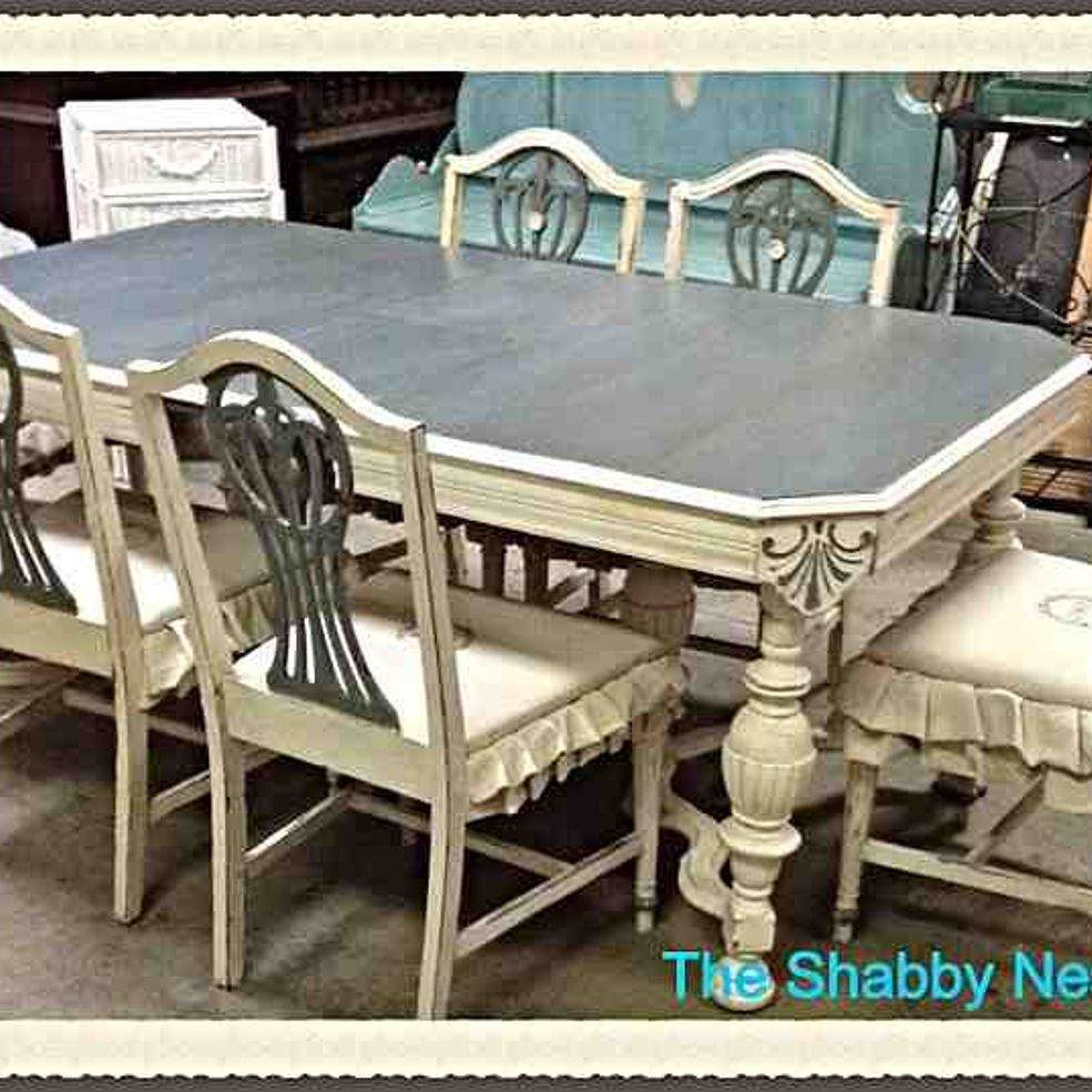 Painted Dining Room Sets: Dining Room Set Chalk/Milk Paint Redo In 2019