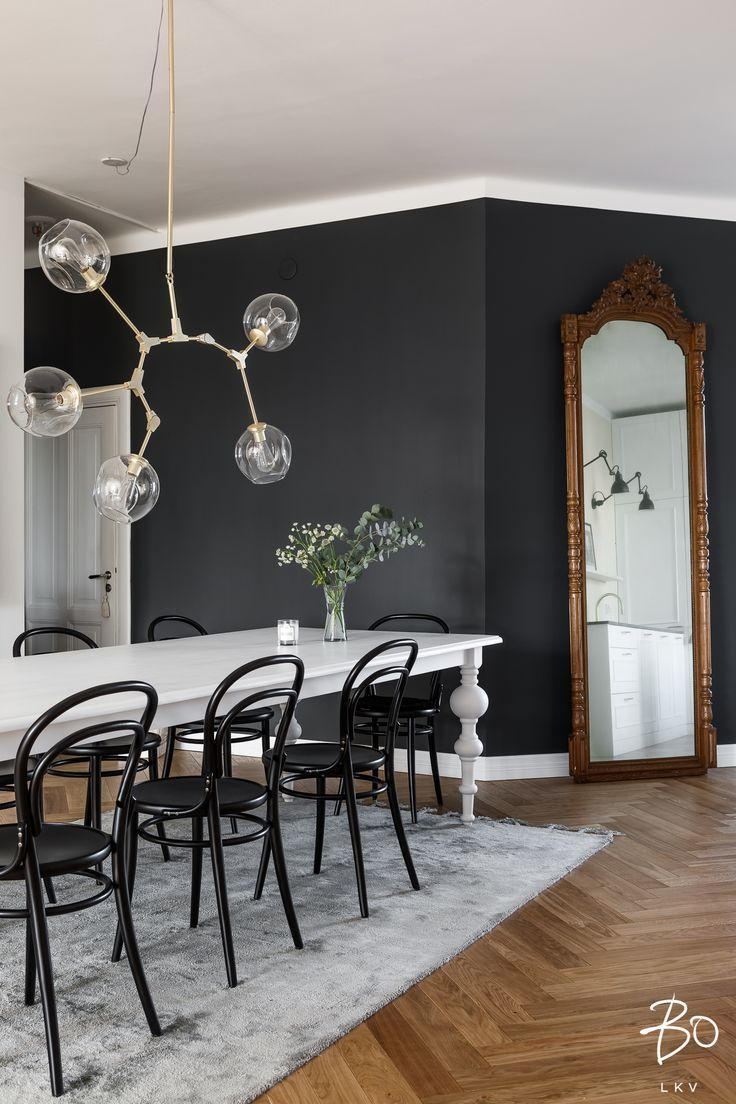 Best Black Dining Room Wall Mid Century Modern Diningroom 400 x 300