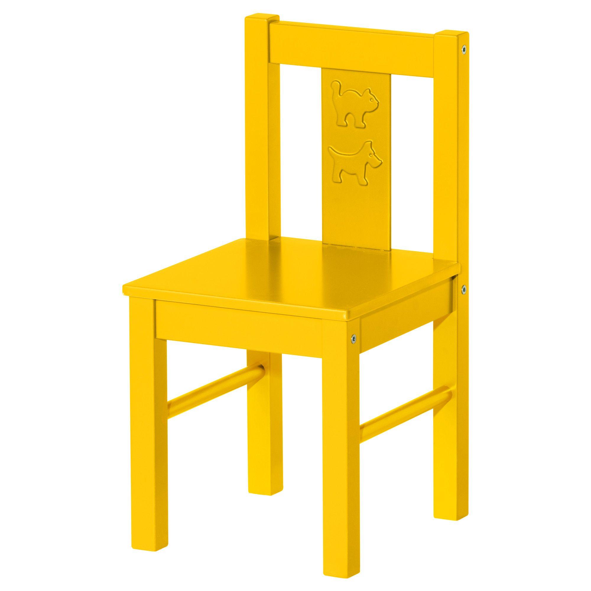 KRITTER Children's chair - yellow - IKEA $12.95 | underage ...