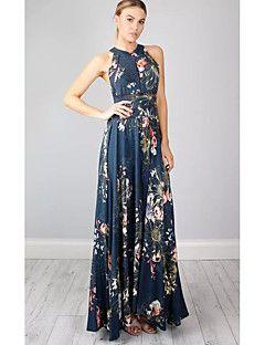 Damen Hülle Kleid-Ausgehen Lässig/Alltäglich Einfach ...