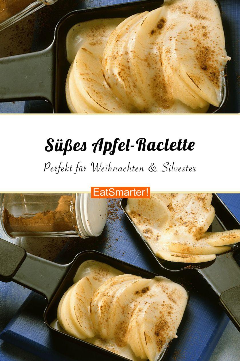 Beim Raclette braucht man auch ein Dessert – am einfachsten ist es, wenn ihr das auch im Raclette-Ofen zubereitet. Daher probiert mal unser süßes Apfel-Raclette   eatsmarter.de #raclette #dessert #silvester #silvesteressen