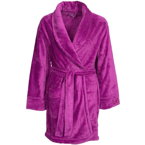 3f3bfe5b92 Dkny Lounge Wear Signature Long Robe ( 115) ❤ liked on Polyvore featuring  intimates