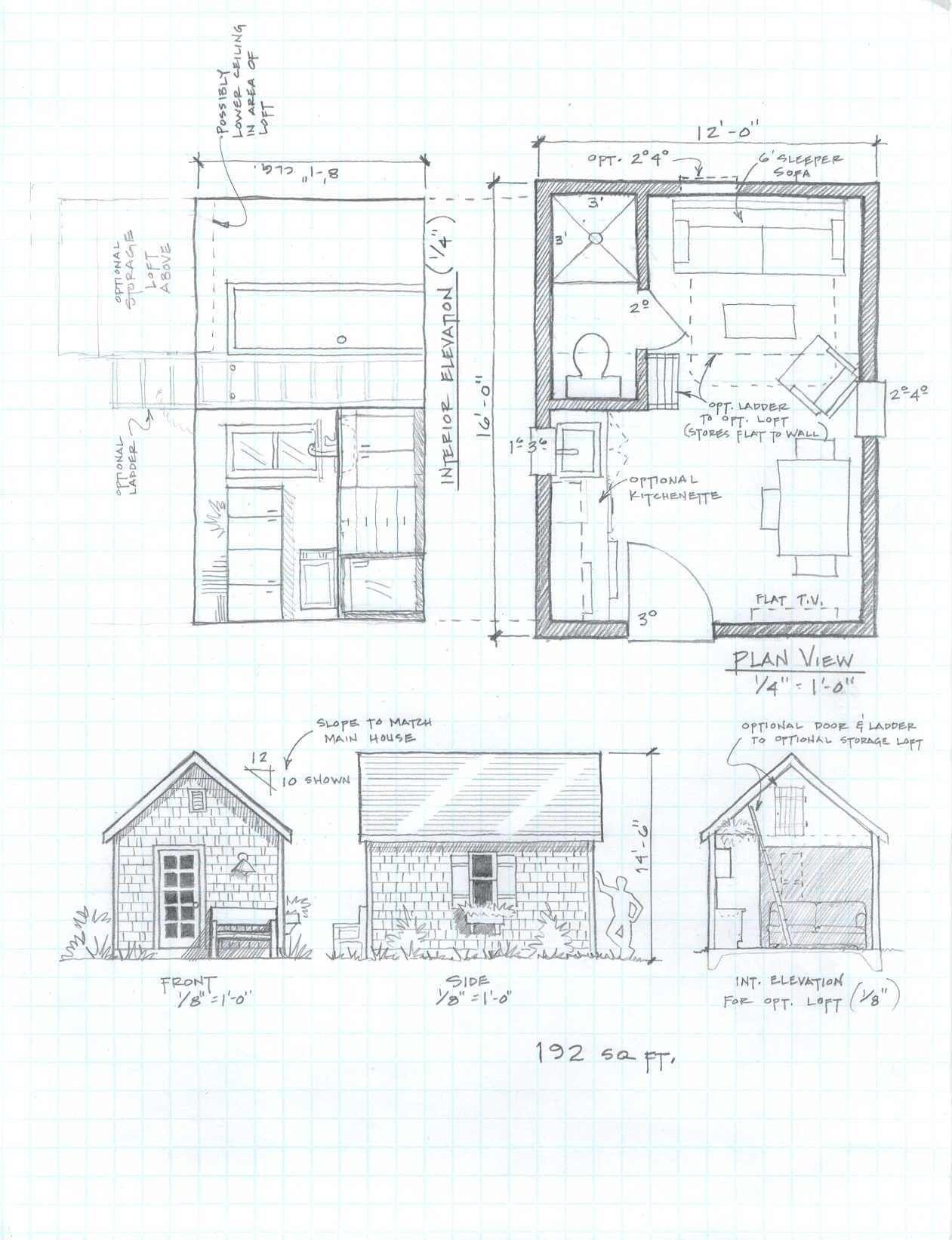 +192 Backyard Guest Cottage Plans   Home Decor