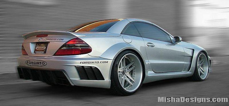 Mercedes Sl With Misha Design Wide Body Kit Benz Mercedes Sl Mercedes Benz