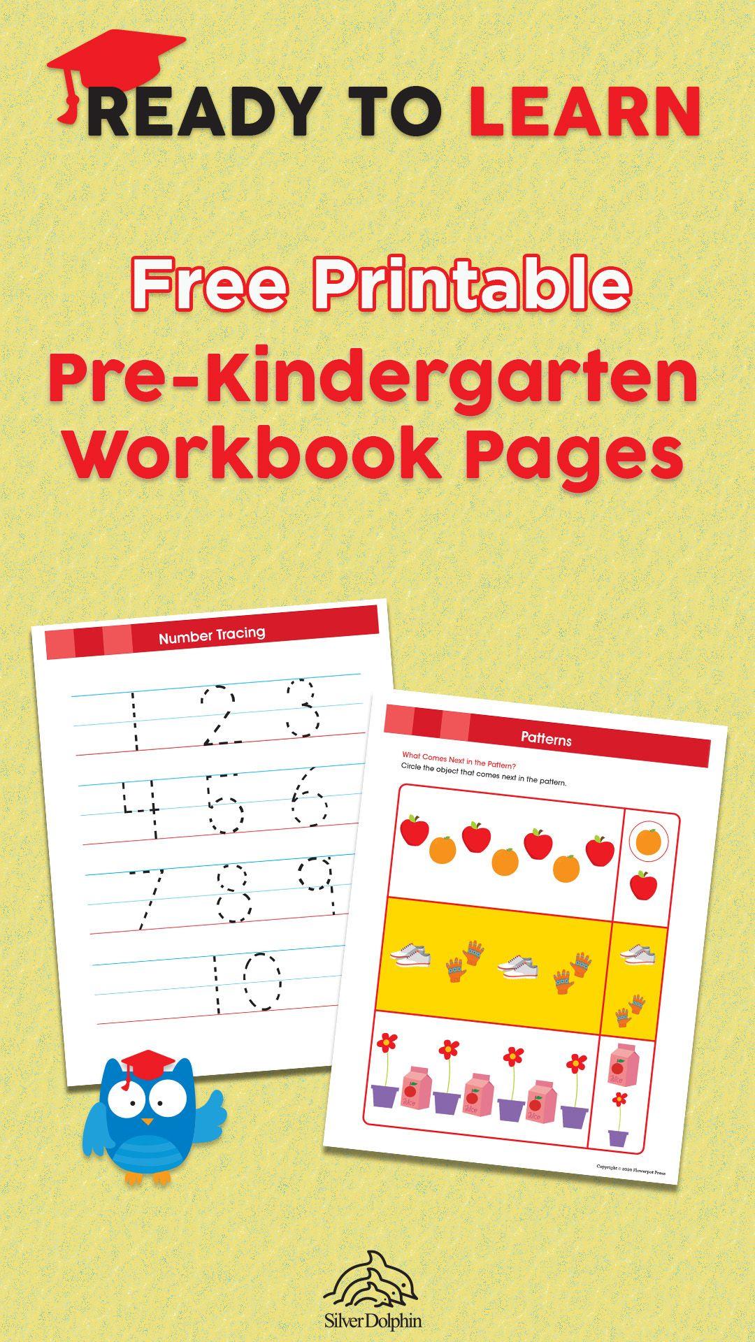 Free Pre Kindergarten Workbook Pages In