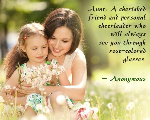 Super Cute Aunt And Niece Relationship Quotes And Sayings Quotes