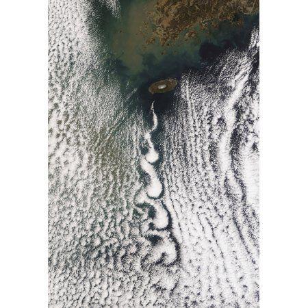 Cloud vortices off Cheju Do South Korea Canvas Art - Stocktrek Images (24 x 34)