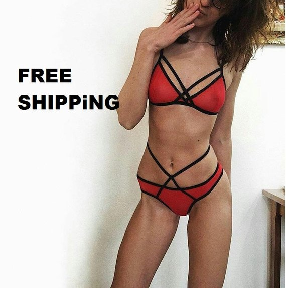 0eebf5b3e lingerie erotique See through bra Underwire bralette Sheer mesh thong women  gift for girlfriend boyf
