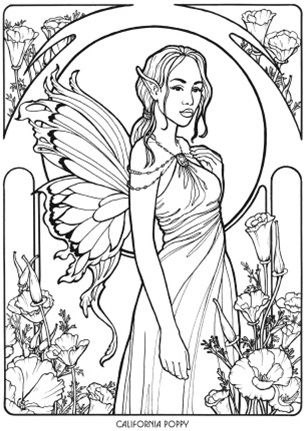 Floral Fairies Coloring Book | Digi Stamps & Coloring pages ...