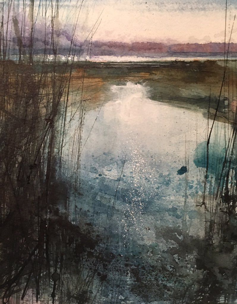 Pin By Valerie Edgar On Landscape Art Painting Contemporary Watercolor Landscape Art