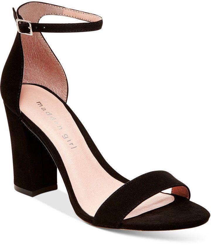 Heel sandals outfit, Block heels