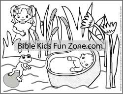Baby Moses Is Found Baby moses Bible stories and Activities