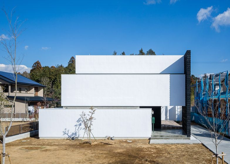 Circle House in Japan has a three tiered structure