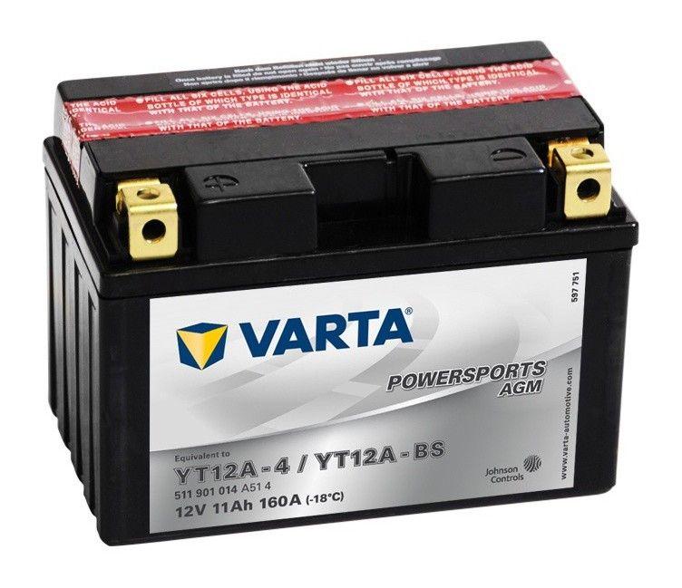 Batterie Moto VARTA YT12A-BS 12V 11AH 160A
