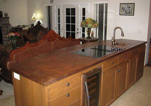 how to make a copper countertop