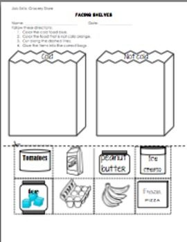 This Worksheet Focuses On Following Written Directions Sorting Items And Grocery Store Skills Students Follow 4 Written Vocational Skills Skills School Help