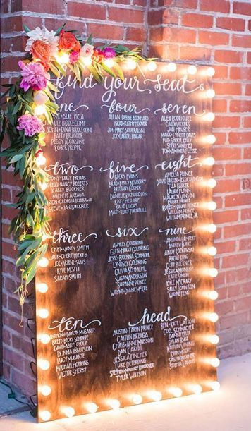 Wooden Wedding Reception Seating Chart  Reception Seating Chart