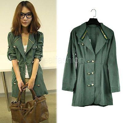 Sale Women's Long Sleeve Slim Fit Double Breasted jacket outerwear