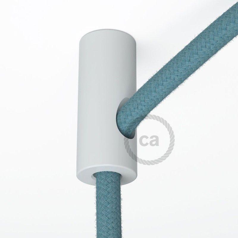 kit de d centralisation crochet au plafond blanc pour c ble lectrique textile avec arr t. Black Bedroom Furniture Sets. Home Design Ideas