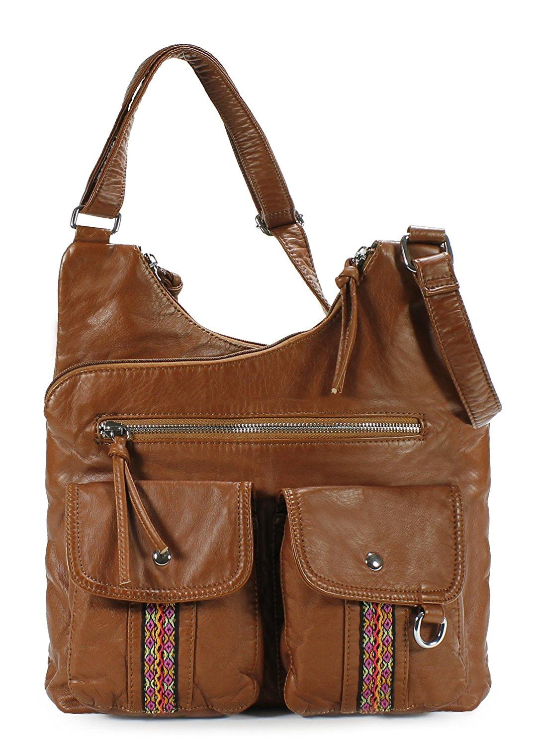 1bb3fc0eea5 Scarleton Soft Washed Decorative Center Pocket Crossbody Bag H1793      Special product just for you. See it now! - amazon affiliated pin