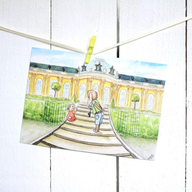 Postkarte - Hasen