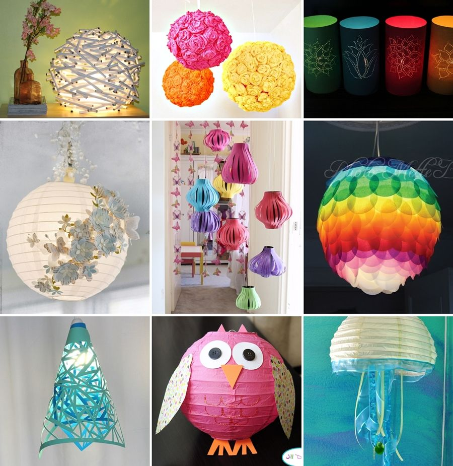 20 Amazing DIY Paper Lanterns and Lamps - http://www ... for Diy Paper Lamp Ideas  157uhy