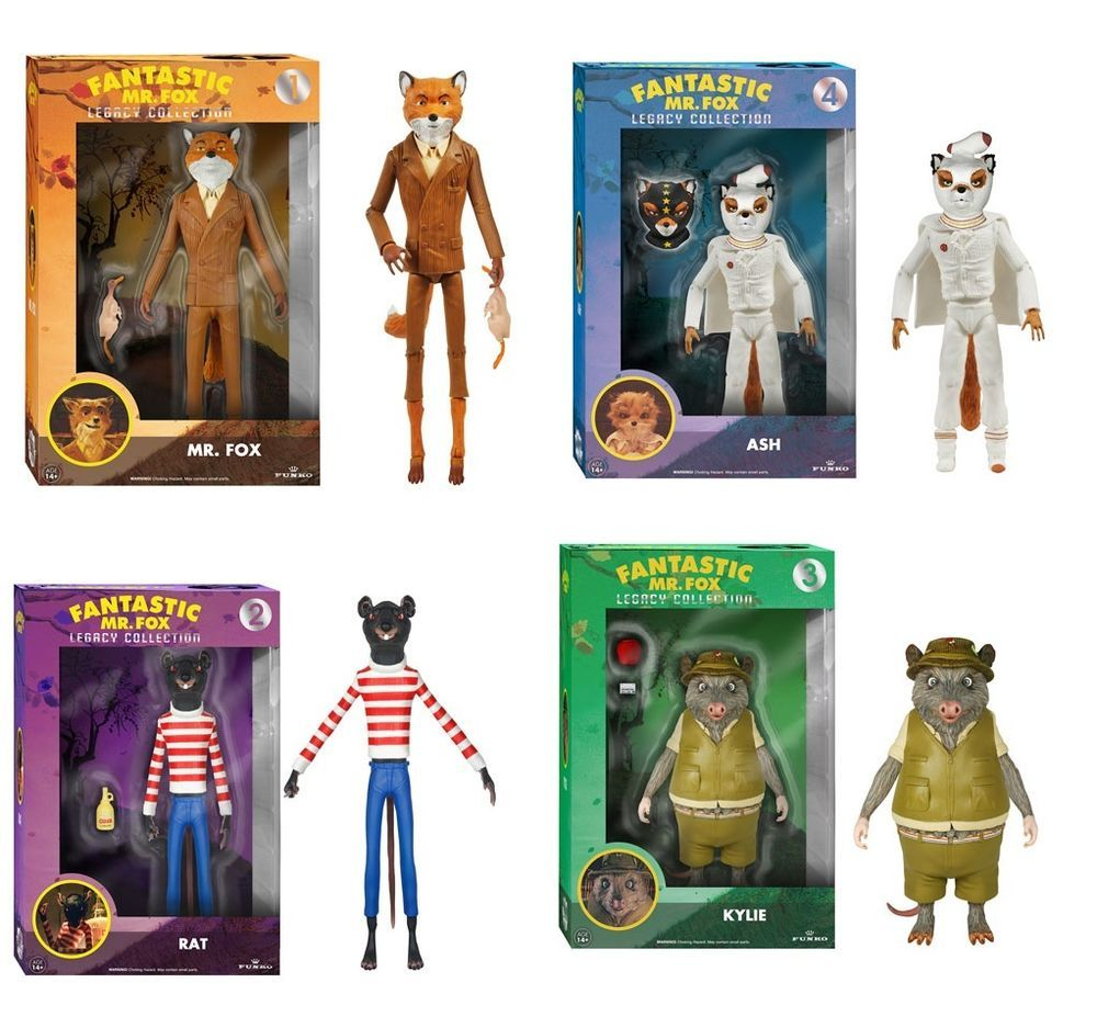 Funko Fantastic Mr Fox Legacy Collection Action Figures