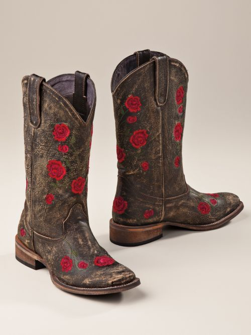 Women's Roper Red Rose Cowgirl Boots | Sahalie