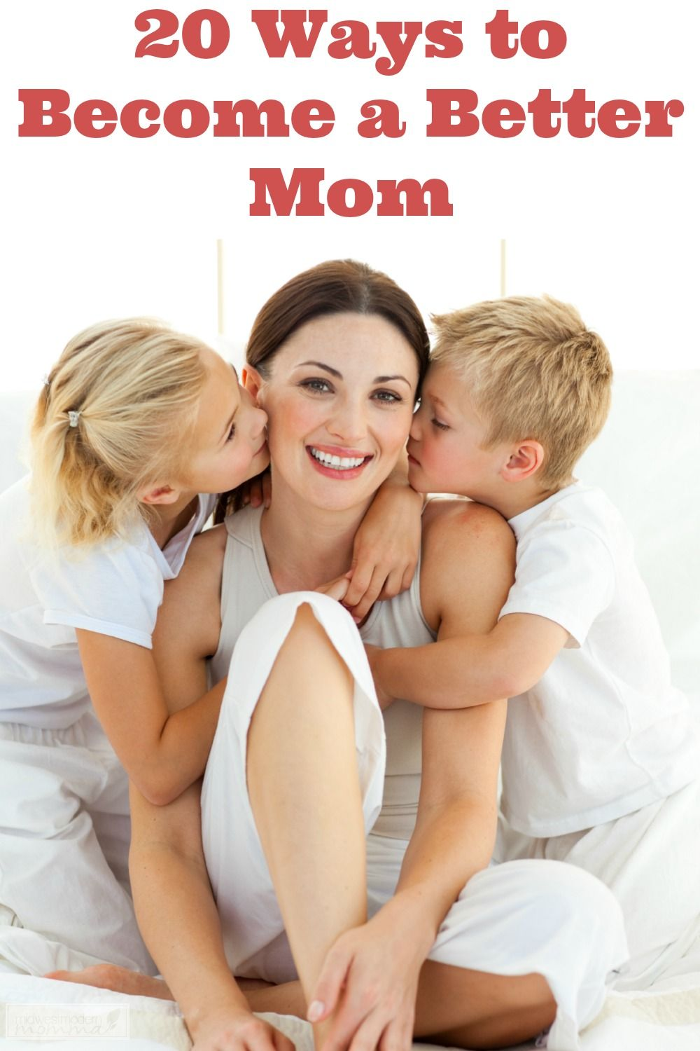 As moms we are always striving to be better in every way. While perfection isn't an attainable goal, there's nothing wrong with trying to be a better mom. One of my goals for 2016 is just to be a better mom overall and I thought I'd share 20 areas we can all work on to be a better mom (and let go of the SuperMom expectations)!