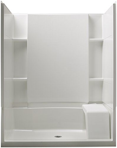 Elegant Sterling Plumbing 0 Accord 36 Inch x 60 Inch x 74 1 2 Inch Standard Fit Shower Kit with Seat White Sterling Plumbing For Your Home - Minimalist bathroom shower stall ideas Style