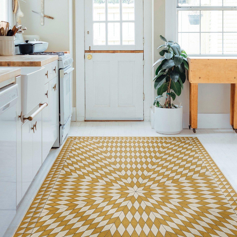 Sunburst The Sun Has Risen Vinyl Floorcloth In 2021 Vinyl Flooring Floor Cloth Vintage Vinyl Flooring Rugs safe for vinyl flooring