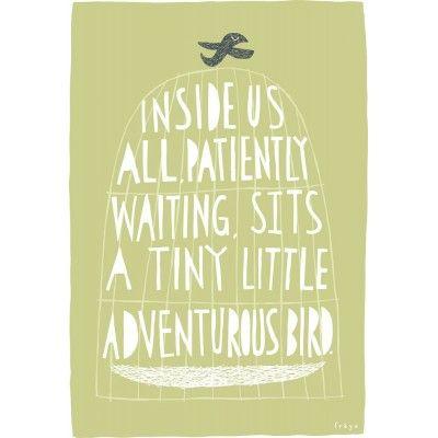 The Adventurous Bird Print £34  We love this ...