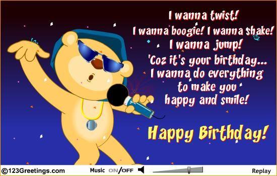 boogie shake singing birthday card birthday card – Singing Birthday Cards
