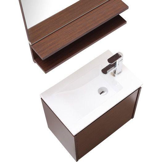 Avanity Milo 22 & quot;  Individual baño montado en la pared de Vanity Set