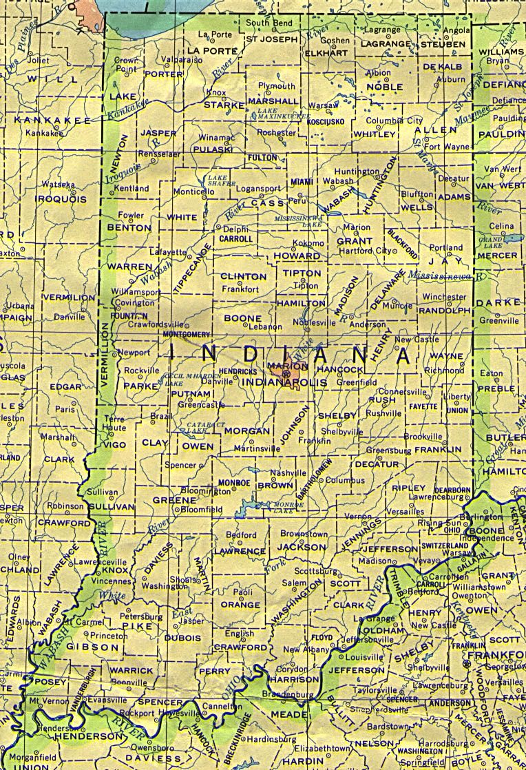 Map of Indiana Projects Pinterest